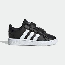 【公式】アディダス adidas テニス 子供用 グランドコート [Grand Court Shoes] レディース メンズ シューズ スポーツシューズ 黒 ブラック EF0117 テニスシューズ スパイクレス