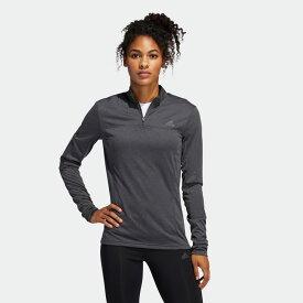 【公式】アディダス adidas オウン ザ ラン ハーフジップ 長袖Tシャツ / Own The Run Half-Zip Tee レディース ランニング ウェア トップス Tシャツ FL7812