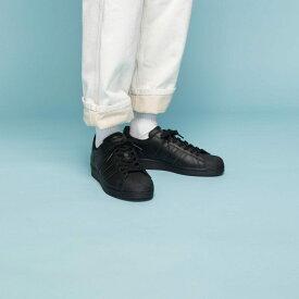 【公式】アディダス adidas スーパースター / Superstar オリジナルス レディース メンズ シューズ スニーカー 黒 ブラック EG4957 ローカット p0122