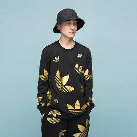 【公式】アディダス adidas ビッグ トレフォイル メタリック リフレクティブ Tシャツ オリジナルス メンズ ウェア トップス Tシャツ 黒 ブラック FS7327 valentine ロンt p1030