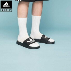 【公式】アディダス adidas 返品可 アディレッタ ライト サンダル / Adilette Lite Slides オリジナルス レディース メンズ シューズ・靴 サンダル 黒 ブラック FU8298