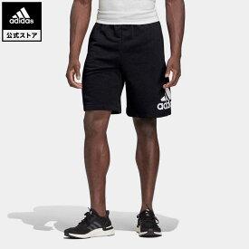 【公式】アディダス adidas 返品可 マストハブ バッジ オブ スポーツ ショーツ / Must Haves Badge of Sport Shorts メンズ ウェア・服 ボトムス スウェット(トレーナー) ハーフパンツ 黒 ブラック DX7662