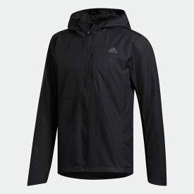 【公式】アディダス adidas ランニング オウン ザ ラン フード付き ウインドジャケット / Own the Run Hooded Wind Jacket メンズ ウェア アウター ジャケット 黒 ブラック FL6964 ランニングウェア p0122
