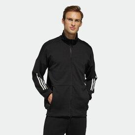 【公式】アディダス adidas Tech ニットジャケット / Tech Knit Jacket アスレティクス メンズ ウェア アウター ジャケット ジャージ 黒 ブラック FM5322