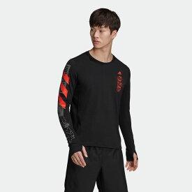 【公式】アディダス adidas ファスト グラフィック 長袖Tシャツ / Fast Graphic Tee メンズ ランニング ウェア トップス Tシャツ FJ5000 ランニングウェア