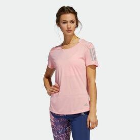 【公式】アディダス adidas ランニング RESPONSE T シャツW レディース ウェア トップス Tシャツ ピンク FL7815 ランニングウェア 半袖