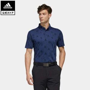 【公式】アディダス adidas ゴルフ ADIDASモノグラム 半袖ボタンダウンシャツ【ゴルフ】 メンズ ウェア トップス ポロシャツ 青 ブルー FN0884