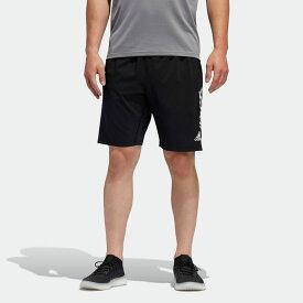 【公式】アディダス adidas ジム・トレーニング 4KRFT 3ストライプス 9インチ ショーツ / 4KRFT 3-Stripes 9-Inch Shorts メンズ ウェア ボトムス ハーフパンツ 黒 ブラック FL4469