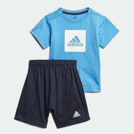 【公式】アディダス adidas ジム・トレーニング ロゴ サマーセット / Logo Summer Set キッズ ウェア セットアップ 青 ブルー FM6377 上下 p1030