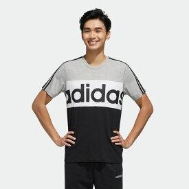 【公式】アディダス adidas エッセンシャルズ カラーブロック Tシャツ / Essentials Colorblock Tee メンズ ジム・トレーニング ウェア トップス Tシャツ FP8656 p0705