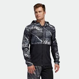 【公式】アディダス adidas ランニング オウン ザ ラン グラフィック ジャケット / Own the Run Graphic Jacket メンズ ウェア アウター ジャケット 黒 ブラック ED9284 ランニングウェア