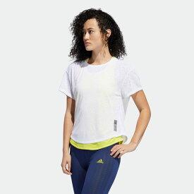 【公式】アディダス adidas ランニング アダプト トゥ カオス Tシャツ [Adapt to Chaos Tee] レディース ウェア トップス Tシャツ 白 ホワイト FN5984 ランニングウェア 半袖
