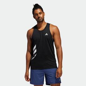 【公式】アディダス adidas ランニング オウン ザ ラン 3ストライプス PB シングレット / Own the Run 3-Stripes PB Singlet メンズ ウェア トップス タンクトップ 黒 ブラック FP7540 トップス ランニングウェア