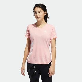 【公式】アディダス adidas ランニング ラン イット 3ストライプス ファスト 半袖Tシャツ / Run It 3-Stripes Fast Tee レディース ウェア トップス Tシャツ ピンク FR8383 ランニングウェア 半袖