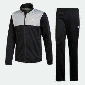 【公式】アディダス adidas ベーシック トラックスーツ メンズ ウェア セットアップ ジャージ 黒 ブラック CF1615 上下