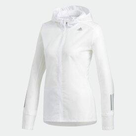 【公式】アディダス adidas ランニング Response フード付シースルージャケット レディース ウェア アウター ジャケット 白 ホワイト DN8765 ランニングウェア