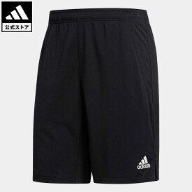【公式】アディダス adidas ジム・トレーニング オールセット 9インチ ショーツ / All Set 9-Inch Shorts メンズ ウェア ボトムス ハーフパンツ 黒 ブラック FJ6156