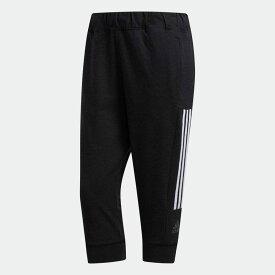 【公式】アディダス adidas ジム・トレーニング 3ストライプス カプリパンツ / 3-Stripes Capri Pants レディース ウェア ボトムス パンツ 黒 ブラック FJ7159 p0122