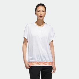 【公式】アディダス adidas マストハブ フレンチスリーブ 半袖Tシャツ / Must Haves French Sleeve Tee アスレティクス レディース ウェア トップス Tシャツ 白 ホワイト FM5284 半袖