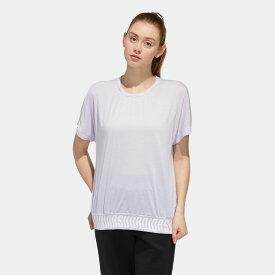 【公式】アディダス adidas マストハブ フレンチスリーブ 半袖Tシャツ / Must Haves French Sleeve Tee アスレティクス レディース ウェア トップス Tシャツ 紫 パープル FM5286 半袖