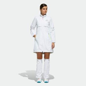 【公式】アディダス adidas ゴルフ ADIDAS ハイストレッチレインワンピース 【ゴルフ】/ Rain Dress レディース ウェア オールインワン ワンピース 白 ホワイト FI7897
