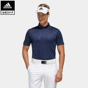 【公式】アディダス adidas ゴルフ ジャカードベンチレーション 半袖ボタンダウンシャツ メンズ ウェア トップス ポロシャツ 青 ブルー FJ3794