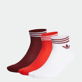 【公式】アディダス adidas トレフォイル アンクルソックス 3足組み [TREFOIL ANKLE SOCKS 3 PAIRS] レディース メンズ オリジナルス アクセサリー ソックス アンクルソックス FM0644 moress p0810