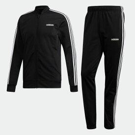 【公式】アディダス adidas M CORE 3ストライプス トリコットトラックスーツ メンズ ウェア セットアップ ジャージ 黒 ブラック DV2448 上下