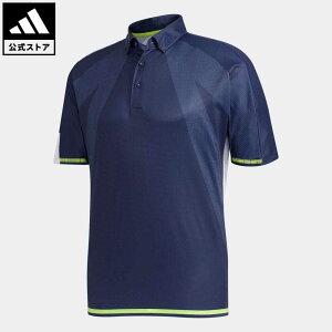 【公式】アディダス adidas ゴルフ シングルパネル 半袖ボタンダウンシャツ【ゴルフ】 メンズ ウェア トップス ポロシャツ 青 ブルー FJ3802