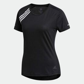 【公式】アディダス adidas スリーストライプス Run 半袖Tシャツ/ 3-Stripes Run Tee レディース ランニング ウェア トップス Tシャツ FK1602 ランニングウェア