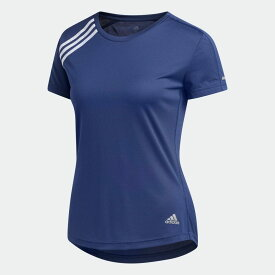 【公式】アディダス adidas スリーストライプス Run 半袖Tシャツ/ 3-Stripes Run Tee レディース ランニング ウェア トップス Tシャツ FK1606 ランニングウェア