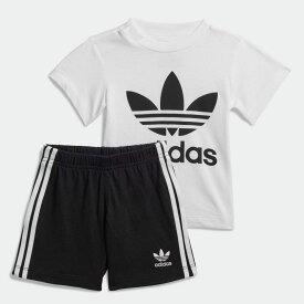 【公式】アディダス adidas 子供用トレフォイル ショーツ Tシャツ セット [Trefoil Shorts Tee Set] オリジナルス キッズ ウェア その他ウェア 白 ホワイト FI8318 p1030