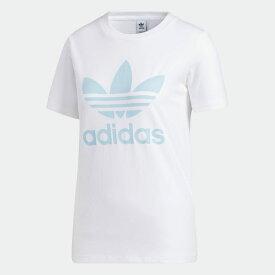 【公式】アディダス adidas トレフォイル 半袖Tシャツ オリジナルス レディース ウェア トップス Tシャツ 白 ホワイト FM3293 半袖 p0122