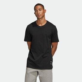 【公式】アディダス adidas トレフォイル エボリューション Tシャツ オリジナルス メンズ ウェア トップス Tシャツ 黒 ブラック FM3375 半袖 p0122