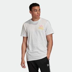 【公式】アディダス adidas エンブロイダード マルチフェード 半袖Tシャツ オリジナルス メンズ ウェア トップス Tシャツ 白 ホワイト FM3379 半袖