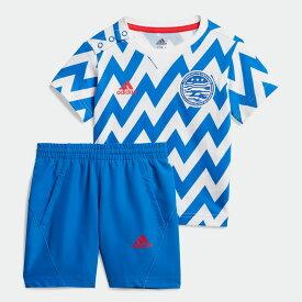 【公式】アディダス adidas ジム・トレーニング サッカー セットアップ / Football Set キッズ ウェア セットアップ 青 ブルー FM6384 上下 p1030