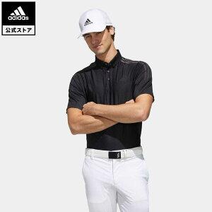 【公式】アディダス adidas ゴルフ WARP KNIT スリーストライプス 半袖ボタンダウンシャツ【ゴルフ】 メンズ ウェア トップス ポロシャツ 黒 ブラック FJ3797