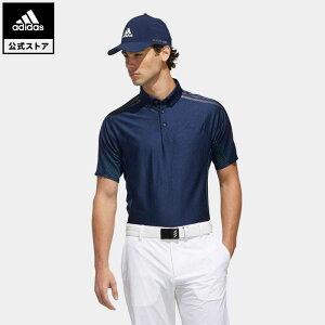 【公式】アディダス adidas ゴルフ WARP KNIT スリーストライプス 半袖ボタンダウンシャツ【ゴルフ】 メンズ ウェア トップス ポロシャツ 青 ブルー FJ3798