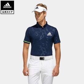 【公式】アディダス adidas ゴルフ エンボスプリント 半袖ボタンダウンシャツ【ゴルフ】 メンズ ウェア トップス ポロシャツ 青 ブルー FJ3830