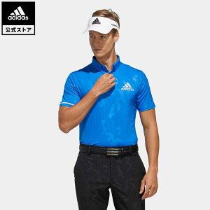 【公式】アディダス adidas ゴルフ エンボスプリント 半袖ボタンダウンシャツ【ゴルフ】 メンズ ウェア トップス ポロシャツ 青 ブルー FJ3833
