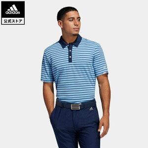 【公式】アディダス adidas ゴルフ HEAT. RDY ストライプ 半袖ボタンダウンシャツ【ゴルフ】 メンズ ウェア トップス ポロシャツ 青 ブルー FJ9956