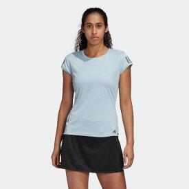 【公式】アディダス adidas テニス スリーストライプス クラブ Tシャツ [3-Stripes Club Tee] レディース ウェア トップス Tシャツ 青 ブルー FK6974 半袖