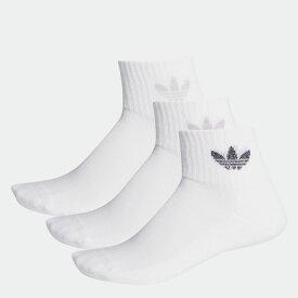 【公式】アディダス adidas ミッドカット アンクルソックス 3足組 オリジナルス レディース メンズ アクセサリー ソックス クルーソックス 白 ホワイト FM0713