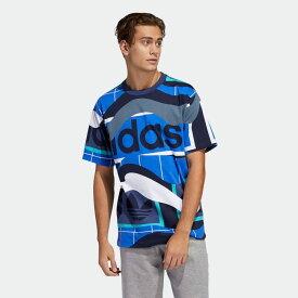 全品送料無料! 03/04 20:00〜03/11 09:59 【公式】アディダス adidas カタログプリントTシャツ オリジナルス メンズ ウェア トップス Tシャツ 青 ブルー FM1554 半袖 p0304