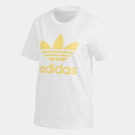 【公式】アディダス adidas トレフォイル 半袖Tシャツ オリジナルス レディース ウェア トップス Tシャツ 白 ホワイト FM3292 半袖 p0122