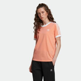【公式】アディダス adidas スリーストライプス Tシャツ [3-Stripes Tee] オリジナルス レディース ウェア トップス Tシャツ オレンジ FM3320 半袖 p0122