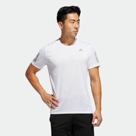 【公式】アディダス adidas ランニング オウン ザ ラン クーラー 半袖Tシャツ / Own the Run Cooler Tee メンズ ウェア トップス Tシャツ 白 ホワイト FM5803 ランニングウェア 半袖
