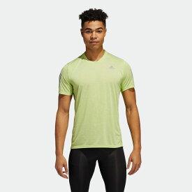【公式】アディダス adidas ランニング オウン ザ ラン クーラー 半袖Tシャツ / Own the Run Cooler Tee メンズ ウェア トップス Tシャツ 緑 グリーン FM5805 ランニングウェア 半袖