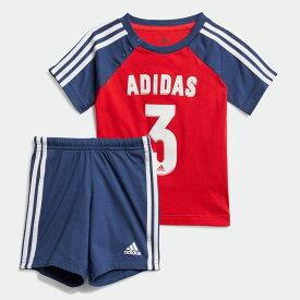 【公式】アディダス adidas ジム・トレーニング スポーツ サマーセット / Sport Summer Set キッズ ウェア セットアップ 赤 レッド FM6398 上下 p1030