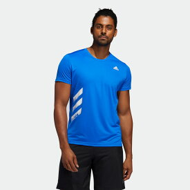 【公式】アディダス adidas ランニング ラン イット 3ストライプス 半袖PB Tシャツ / Run It 3-Stripes PB Tee メンズ ウェア トップス Tシャツ 青 ブルー FR8377 ランニングウェア 半袖
